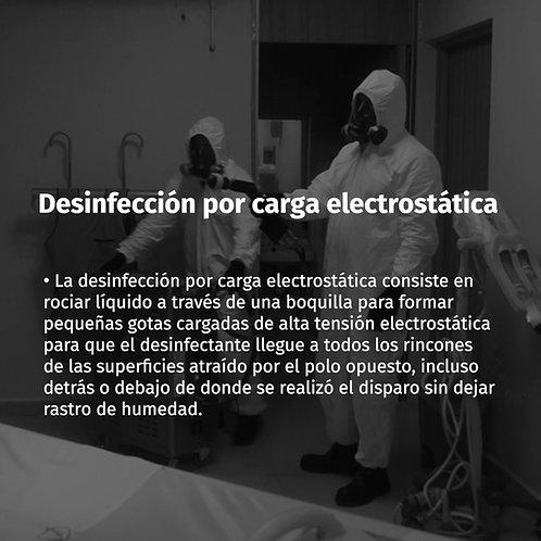 Tipo de desinfección: Carga electrostática