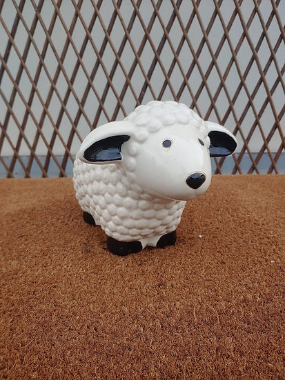 Small Outdoors Sheep Statue