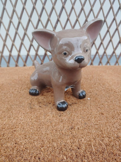Small Outdoors Chihuahua Statue