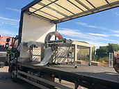 wrap/hold machine arriving