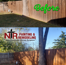 Before_After_Stained Fence