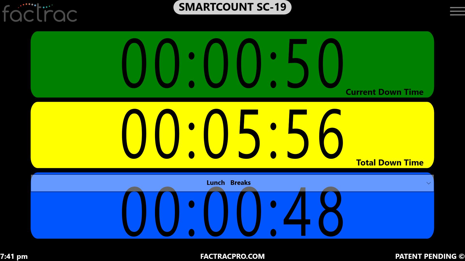 SC-19 Down Time  - Timers w- Reason