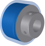 350460 (Separator, Hub, Blue Urethane Separating Roller, .500 bore)