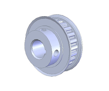 100195 (Aluminum Timing Pulley 24XL037, .500 bore)