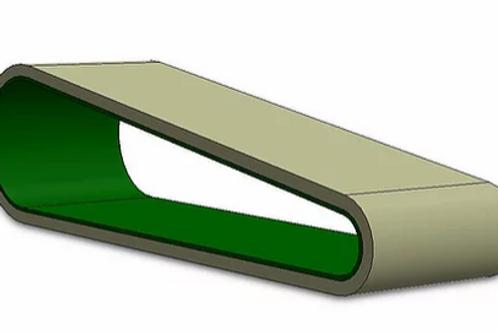OT-12001 Smooth Gum Feed Belt for Maxim RX9s Feeder