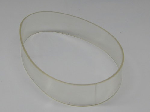 OT-10038: V-500 Clear Discharge Belt 1-inch Wide (replaces 44846035) (Dealer)