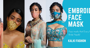 KALKI Fashion Launched Embroidered Face Masks And It Is What Every Pandemic-Hit Bride Needs!