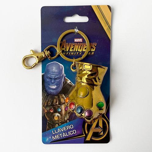 Marvel Avengers - Llavero Metálico Guantelete del infinito Alhershop