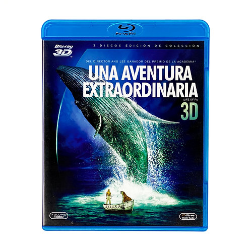Una Aventura Extraordinaria - Blu Ray 3D + Blu Ray + DVD Alhershop