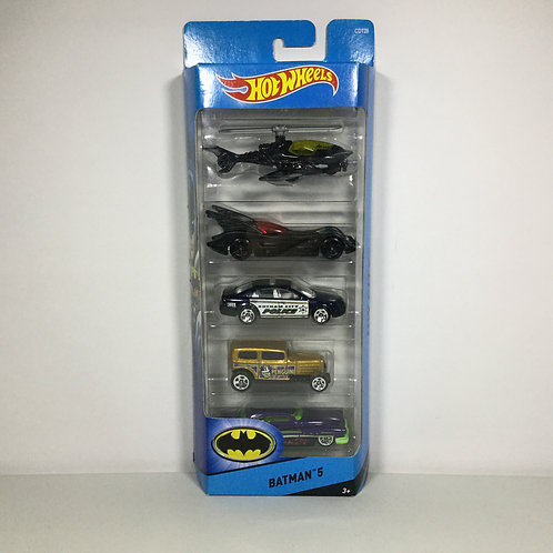 Hot Wheels - 5 Pack Batman (2016) City Alhershop