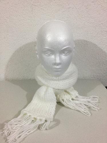Bufanda - B008 Blanca 114 x 18 cm.