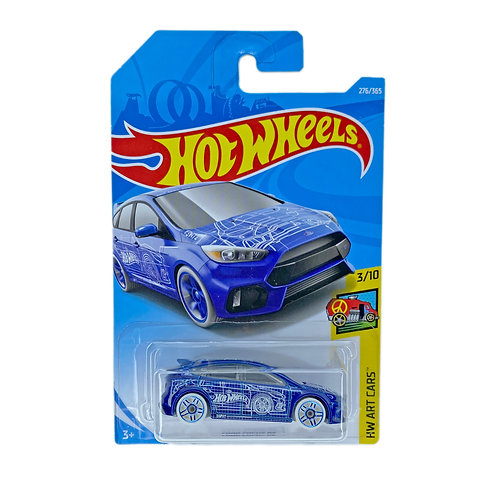 Hot Wheels - Ford Focus RS (2018) Azul Alhershop