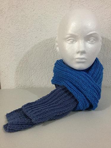 Bufanda - B003 2 Tonos de azul