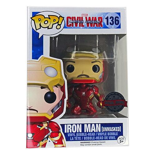 Funko Pop - Iron Man (Unmasked) Civil War 136 Alhershop