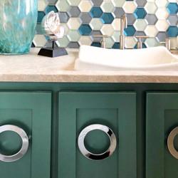 Green Bathroom Cabinet