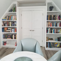Bookshelves can be both functional and a