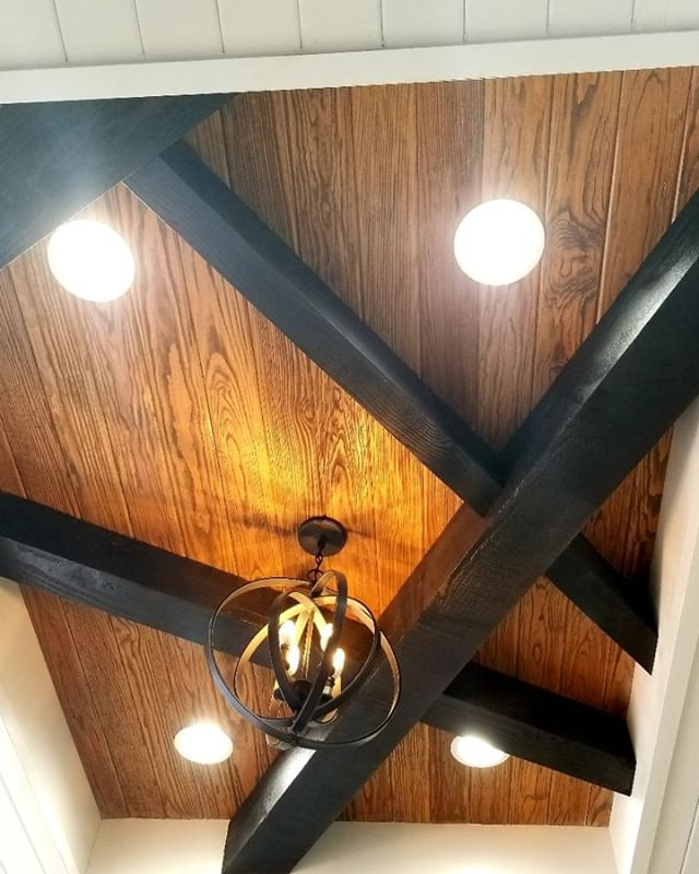 Ceilings can add accent to a room or eve