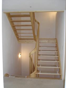 Treppe mit Krümmung