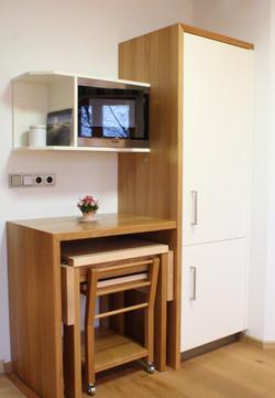 Küche in Eiche mit Weißlack