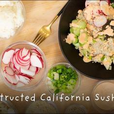 DECONTRUCTED CALIFORNIA SUSHI BOWL