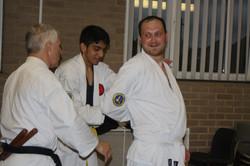 Student Practices Nunchaku Technique