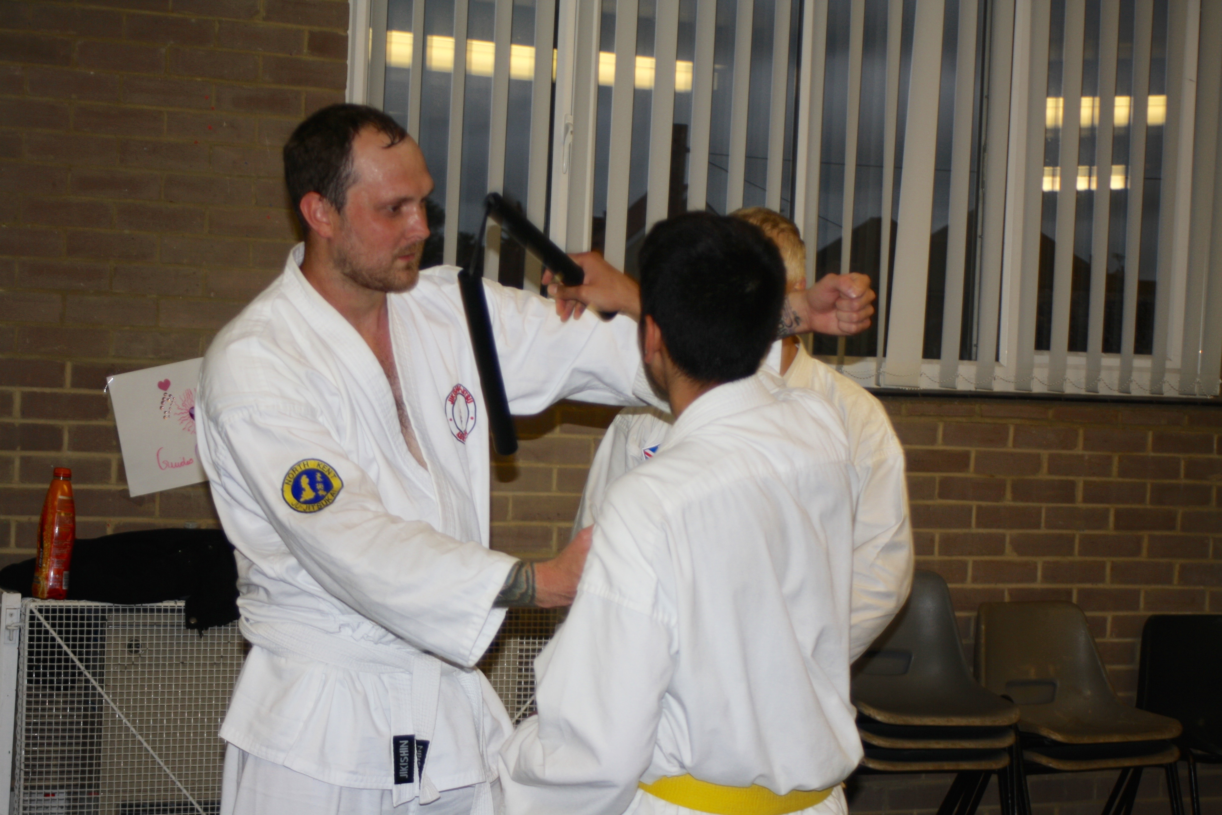 Student Practices Nunchaku Technique