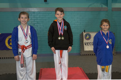Medal Podium, Bronze & Silver
