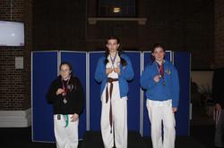 Medal Podium, silver & gold
