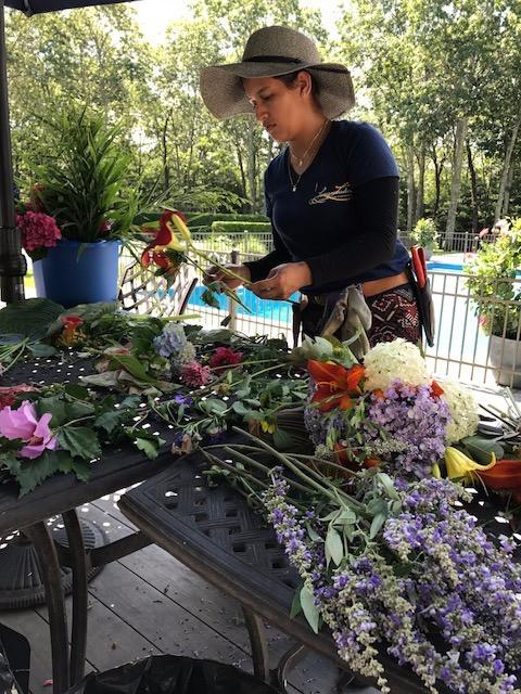 Flower Arrangement Prep