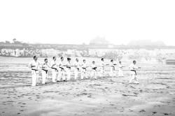 Judo on beach