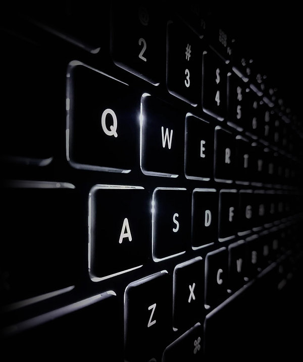 Image of keyboard glowing in the dark