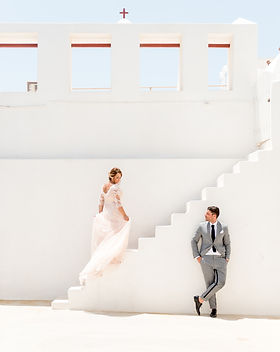 A traditional wedding on the island of Santorini
