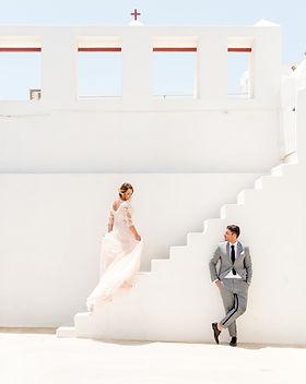 A traditional wedding on the island of Santorini