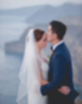 A Greek-American wedding on the island of Santorini