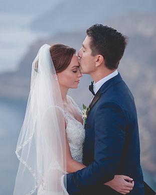 A Greek-American wedding on the island of Santorini