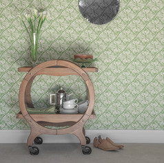 Calla Lily Wallpaper in Apple Green