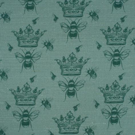Queen Bee Teal Green Fabric