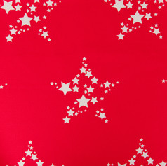 Star Bright in Perfect Red fabric by Willis Bloom