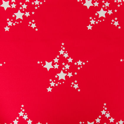 Star Bright fabric in Perfect red
