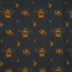 Bee Coal & Gold fabric swatch