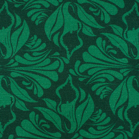 Calla Lily fabric Swatch in Emerald green