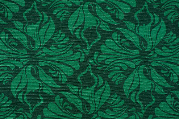 Willis Bloom Calla Lily fabric in Emerald Green. Floral dark green fabric for beautiful homes.