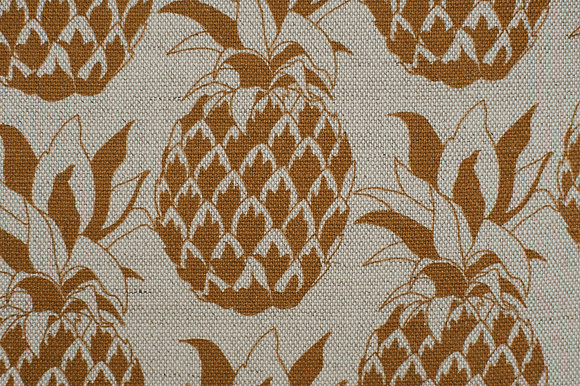 Willis Bloom Pineapple fabric in Golden mist. A gold design for people that love pattern and beautiful homes.