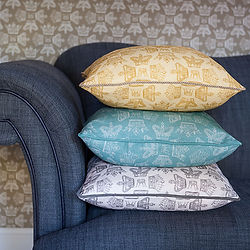 Regal cushion fabric stack Willis Bloom.