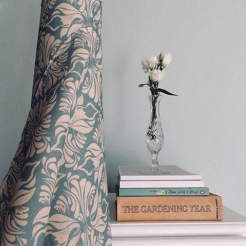 Calla Lily Willis Bloom Seashore Fabric