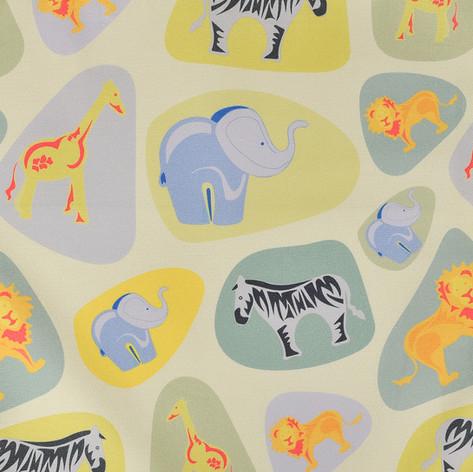 Pebble Safari Fabric by Willis Bloom
