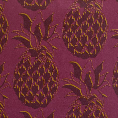 Pineapple fabric in Gilded Merlot.
