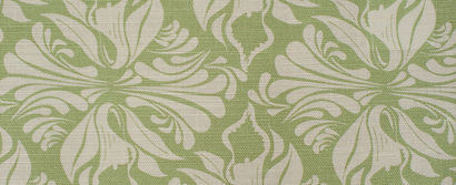 Willis Bloom Calla Lily fabric swatch in Apple green. Beautiful floral fabric. Beautiful home inspration.