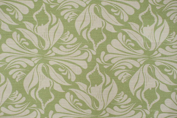 Willis Bloom Calla Lily fabric in Apple green.