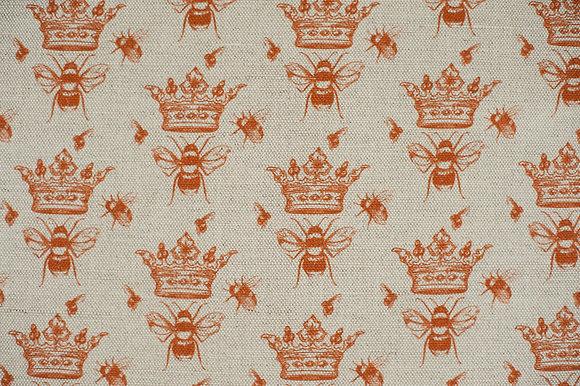 Queen Bee Amber fabric sample